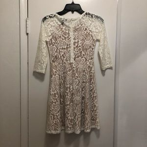Forever 21 Dresses - White Sleeve Lace Dress